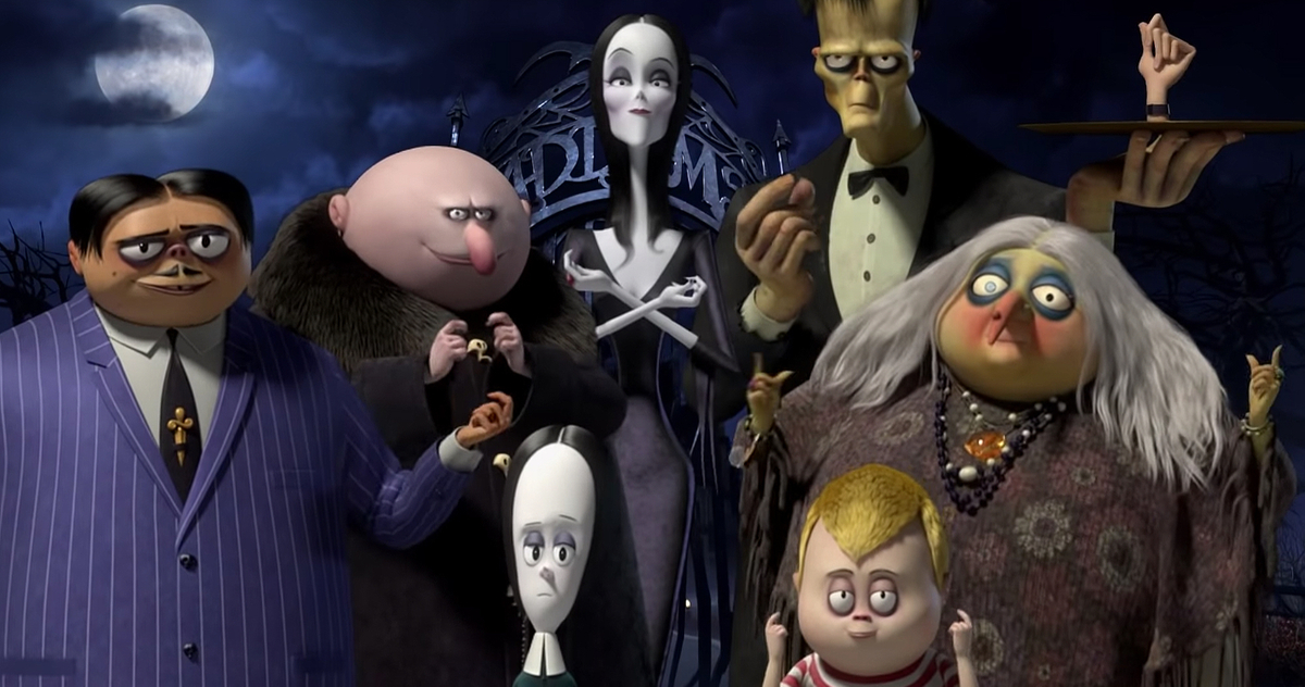 The Addams Family in computer graphics in the first teaser trailer